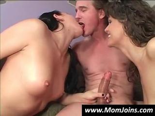 Daughter Family Handjob  Mom Old and Young Teen Threesome