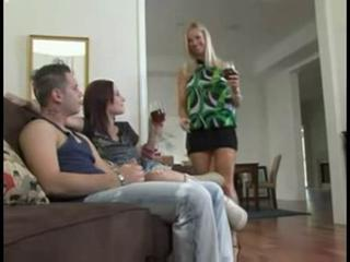 Hot milf helps her daughter take care of her bfs cock  Sex Tubes