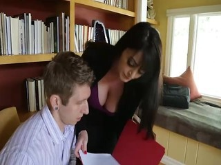 Amazing Big Tits Brunette  Natural Office Secretary