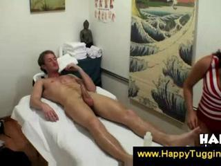 Naughty masseuse peeks at his penis  Sex Tubes