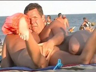 Beach Nudist Older Outdoor Public Voyeur Wife