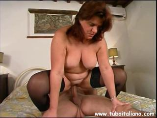 European Italian Mature Natural Riding Stockings