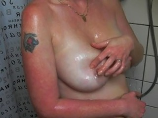 Horny Dutch Wife showering