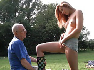 Hot tow-headed cleaned and fucked by old man tubes