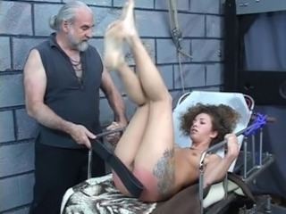 "Hard spanking for sexy young brunette perky tit girl from older bdsm master Len"" class=""th-mov"