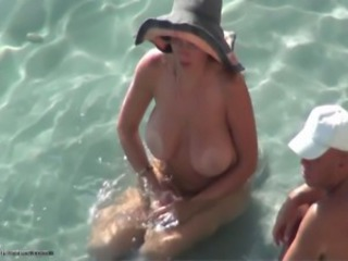 Beach Big Tits Nudist Outdoor  Voyeur Wife