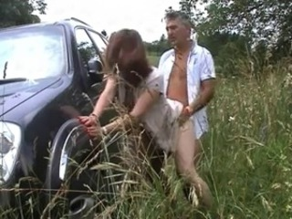 Amateur Car Clothed Doggystyle European French Older Outdoor Wife