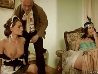 Babe Cute Daddy Maid Old and Young Uniform Vintage