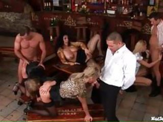 After work orgy in a bar tubes