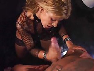 Amazing Blowjob Fishnet Handjob