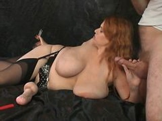 Big Tits Blowjob  Natural Stockings