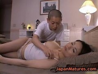 Mature Bigtit Miki Sato Masturbating On Bed 2 By Japa...