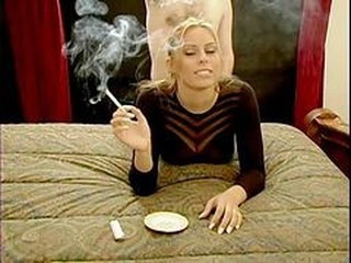 Smoking Blonde In Doggystile Action!