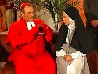 Daddy Nun Old and Young Teen Uniform Vintage