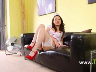 Amazing Legs Nurse Stockings Teen Uniform