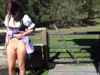 Amazing Be captivated by of German farm call-girl