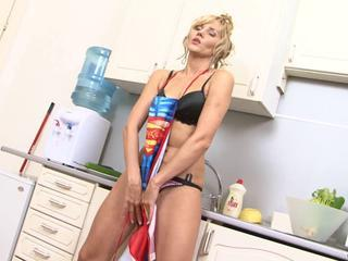 hot babe zlata having fun in kitchen