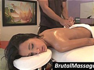 Amia Miley doesn't mind getting all naked for this skillful masseur