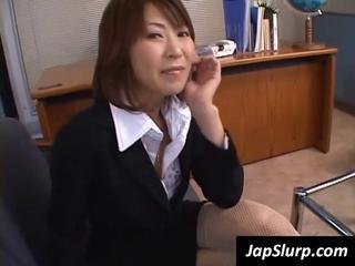 Young Dirty Office Slut Gives A Blowjob Right In Her Office