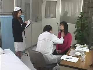 Asian Doctor Nurse Threesome Uniform
