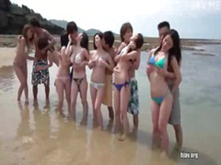 Asian Beach Bikini Groupsex Orgy