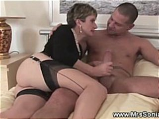 Handjob MILF Stockings Wife
