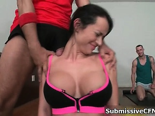 Busty impenetrable babes go crazy sharing