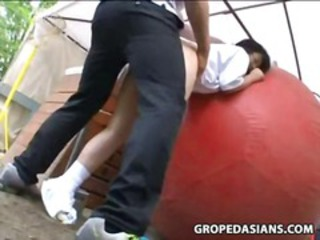 Asian Clothed Doggystyle Outdoor Teen