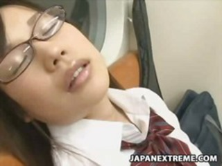 Asian Glasses Japanese Public Student Uniform
