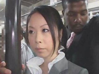 Asian Interracial  Public Secretary