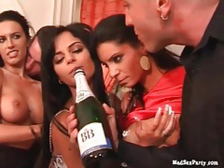 Champagne dumped on sexy sluts tubes