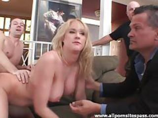 Blonde milf in black stockings teases the camera tubes