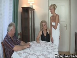 He finds his mom with an increment of dad shagging his gf