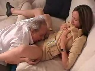 Old grandpa taboo family sexual intercourse with daughter of his son