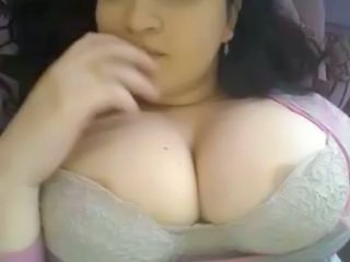Busty nip slip on webcam!!!