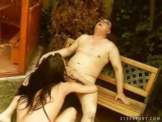 Grandpa fucks hot exotic girl