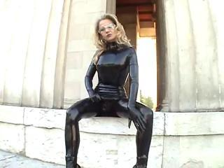 Fetish Latex  Outdoor Public