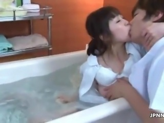 Sexy asian babe gets horny