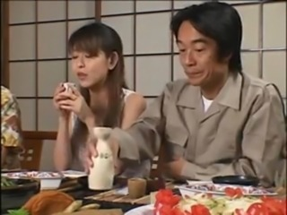 Asian Daddy Daughter Family Japanese Old and Young Teen