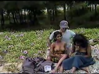 Amateur Indian Interracial Outdoor Teen Threesome