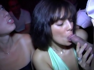 Blowjob Clothed  Party Public