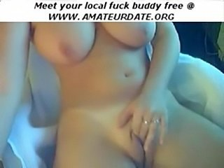 Great puffy tits boobs amateur masturbation on webcam homema free