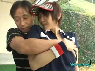 Asian Girl Sucking Her Golf Instuctor Cock