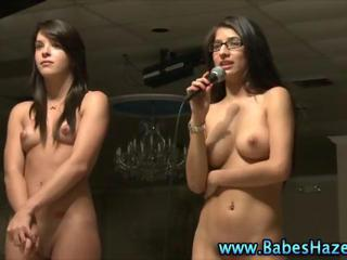 College teens naked college hazing