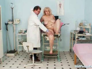 Mature Miriam good-luck piece gyno exam speculum exam