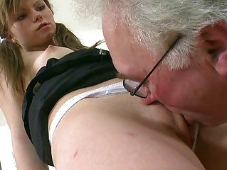 Daddy Licking Old and Young Teacher Teen