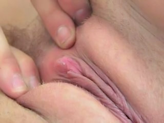 Jacky superb blonde with natural tits playing with pussy and...