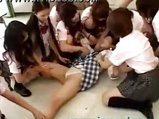 Japanese School Girls Gangbang Force Initiation