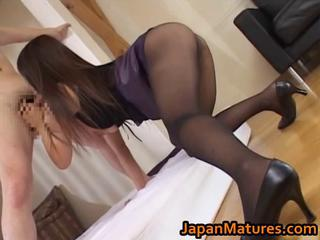 Asian Blowjob Japanese Legs Mature Pantyhose