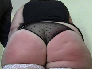 Spanking Jiggling Fat Ass 4